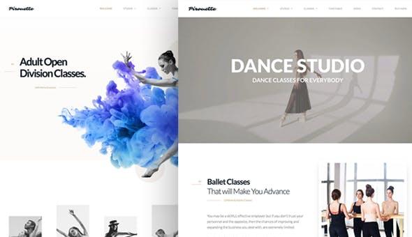 Dance WordPress Theme - Dancing Academy