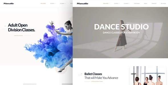 Dance WordPress Theme - Dancing Academy