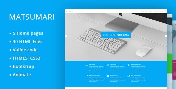 Matsumari - Creative Responsive Multi-Purpose HTML5 Template - Creative Site Templates