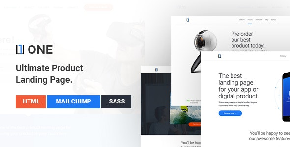 One - Ultimate Product Landing Page - Landing Pages Marketing