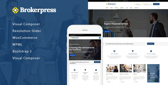 BrokerPress - Business Financial & Corporate WordPress Theme - Business Corporate