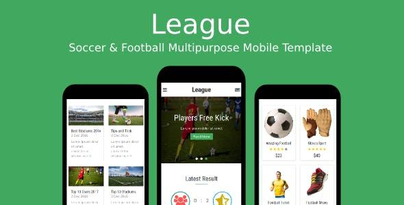 League - Soccer & Football Multipurpose Mobile Template