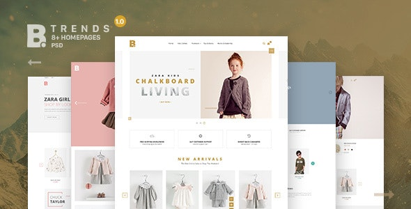 B - Trends Ecommerce Multipurpose PSD Template - Fashion Retail