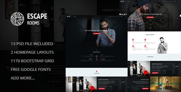 Escape Room - PSD Template - Business Corporate