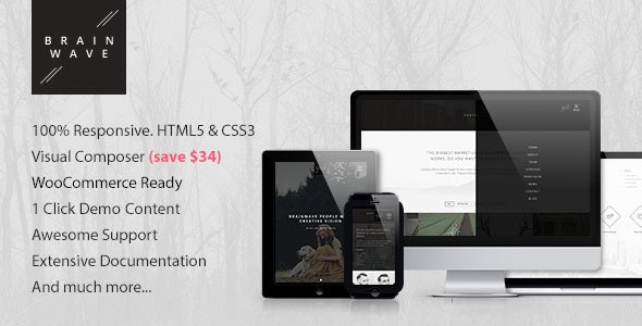 Brainwave — Multipurpose One/Multi Page Theme - Creative WordPress