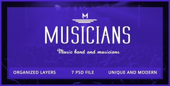 Musician - Artist & Band PSD Template - Entertainment Photoshop
