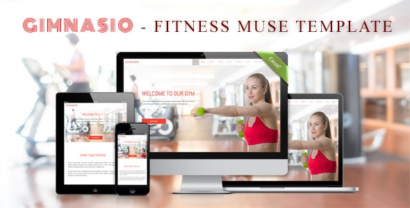 GIMNASIO - Fitness Adobe Muse Template - Creative Muse Templates