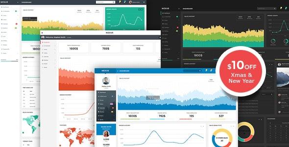 Nexus - Responsive Admin Template - Admin Templates Site Templates