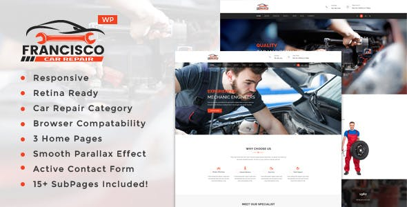 Francisco - Auto Mechanic Repair WordPress Theme