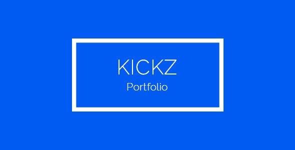 Kickz Portfolio PSD Template - Portfolio Creative