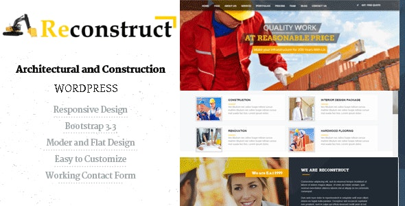 Reconstruct- Construction and Builder WP Theme - Business Corporate