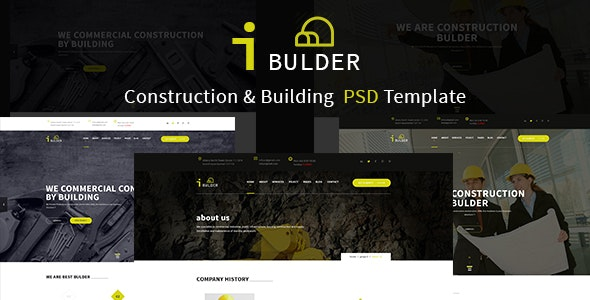 iBULDER - Construction & Building Template - Business Corporate