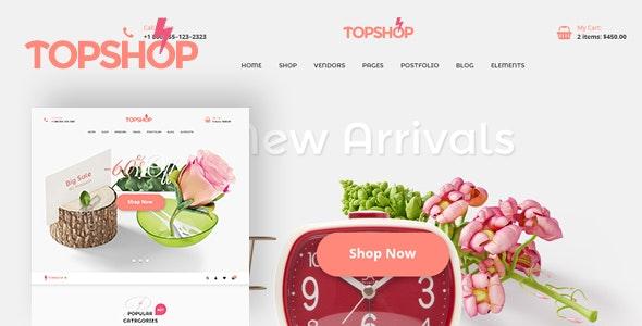Topshop eCommerce PSD Temp - PSD Templates