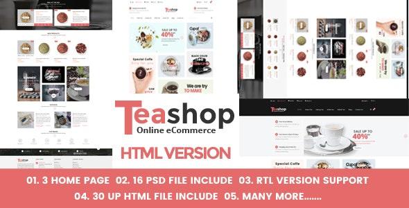 Teashop eCommerce HTML Template - Food Retail