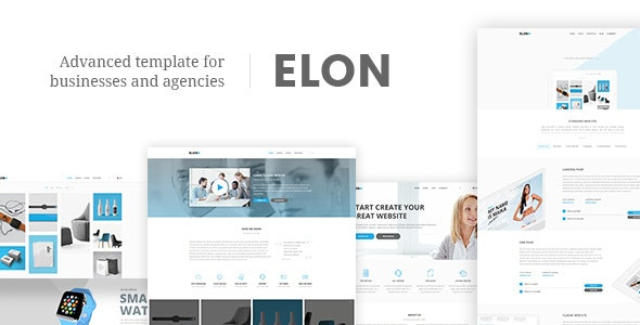 Elon - Web And Agency Template - Business Corporate