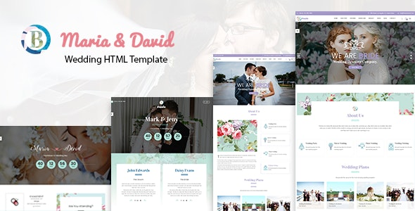 Bride - Wedding Responsive HTML Template - Wedding Site Templates