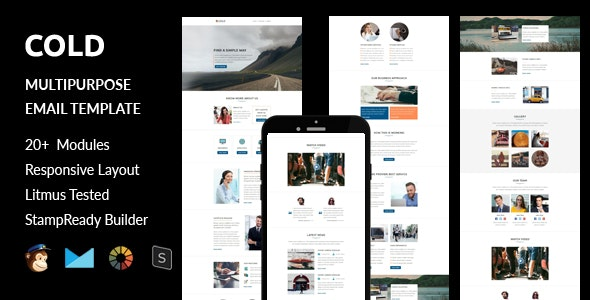 Cold - Multipurpose Responsive Email Template + Stampready Builder - Email Templates Marketing