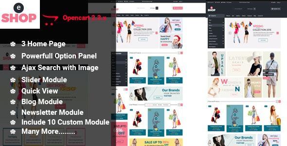 eShop-Multipurpose OpenCart Template - Shopping OpenCart