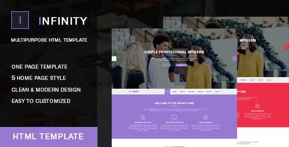 Infinity Onepage HTML Template - Corporate Site Templates