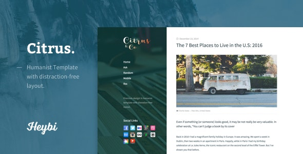 Citrus: Humanist Template for Blogger - Blogger Blogging