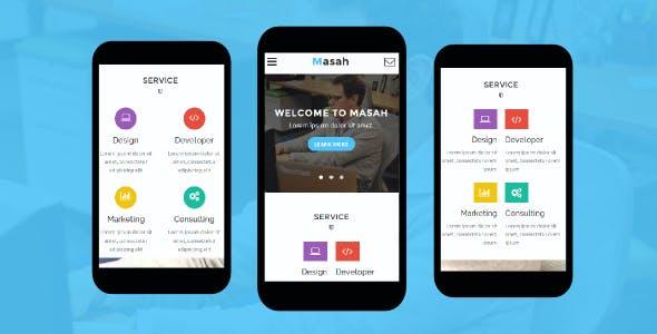 Masah - Multipurpose Mobile Template