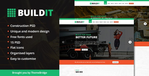 BUILDIT | Construction PSD Template - Business Corporate