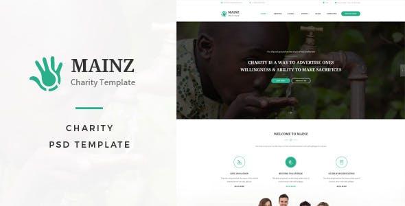 Mainz : Charity PSD Template