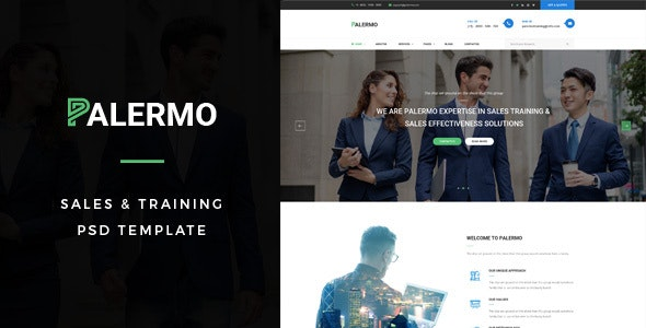 Palermo : Sales & Training PSD Template - Business Corporate