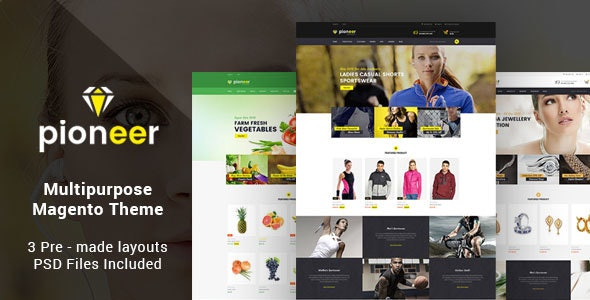 Pioneer - Multipurpose Responsive Magento2 Theme | Fashion Sportswear Food & Jewellery - Magento eCommerce