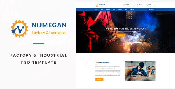 Nijmegan : Factory PSD Template - Business Corporate