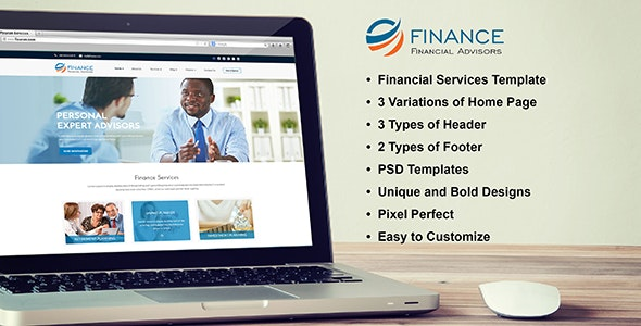 Financial Advisor PSD Template - Business Corporate