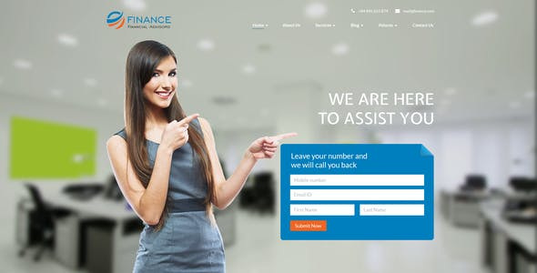 Financial Advisor PSD Template