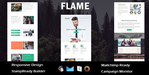 Flame - Multipurpose Responsive Email Template + Stampready Builder - Email Templates Marketing