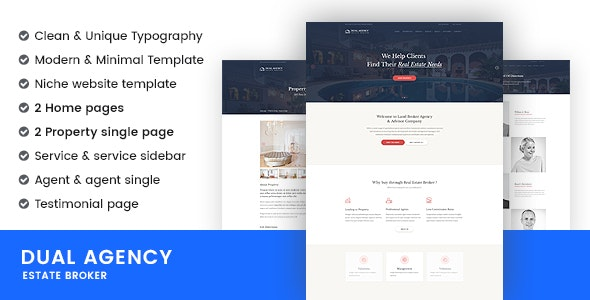 Dual Agency | Real Estate Broker & Business Website Templates - Site Templates