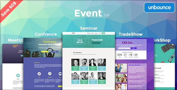 Event - Multipurpose Unbounce Pack - Unbounce Landing Pages Marketing