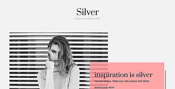 Silver Tumblr Theme - Blog Tumblr