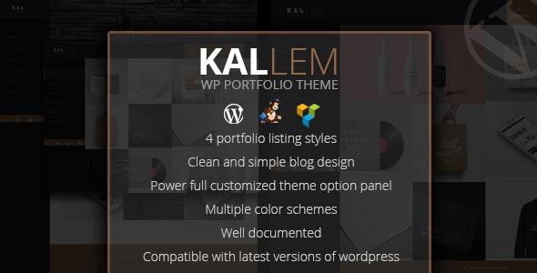 Kallem - Creative Portfolio WordPress Theme - Portfolio Creative