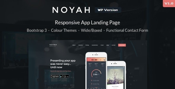 Noyah - App Landing WordPress Theme - Marketing Corporate