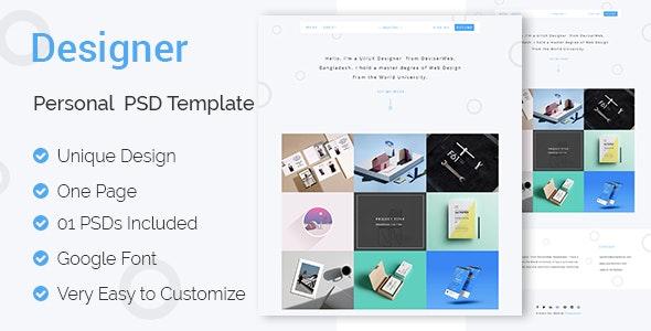 Designer- UI & UX Designers Landing Page PSD Template - Portfolio Creative