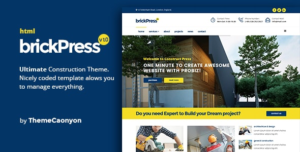 BrickPress - Construction & Building HTML5 Template - Business Corporate