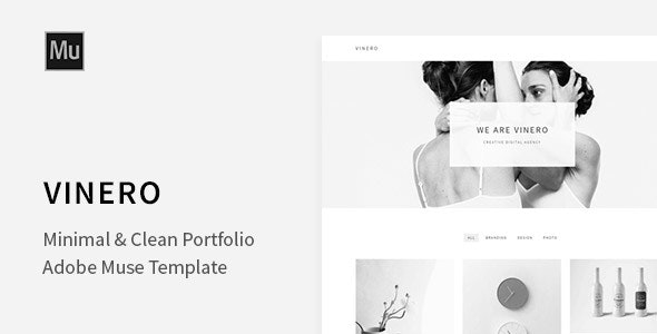 Vinero - Very Clean and Minimal Muse Portfolio Template - Creative Muse Templates