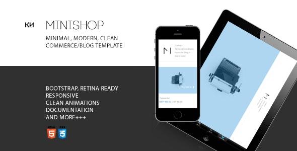Minishop - Multipurpose, Minimal, e-Commerce, Marketplace Template - Shopping Retail