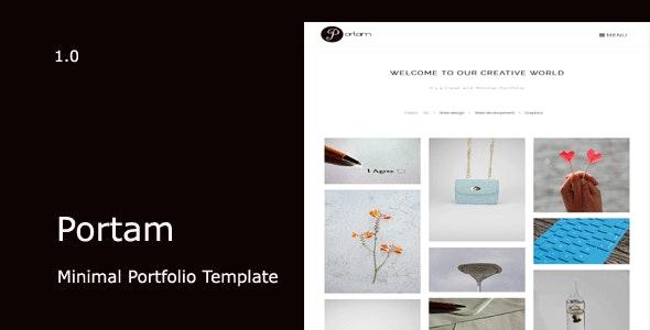 Portam - Minimal Portfolio Template - Creative Site Templates