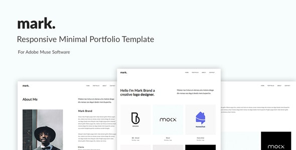 mark. -Minimal Portfolio Muse Template - Creative Muse Templates