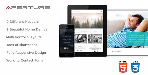 Aperture - Creative Business HTML Theme