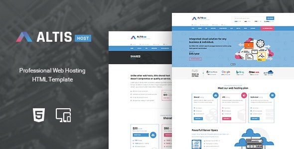Altis - Professional Hosting HTML Template - Hosting Technology
