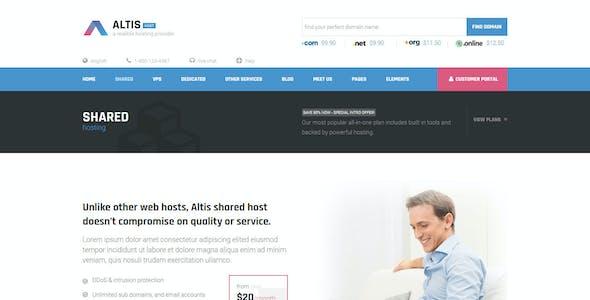 Altis - Professional Hosting HTML Template