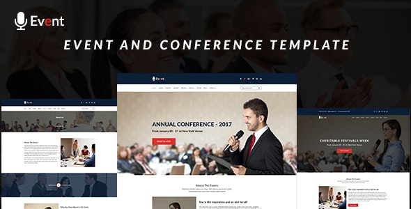 Event- An Event and Conference PSD Template - Corporate PSD Templates