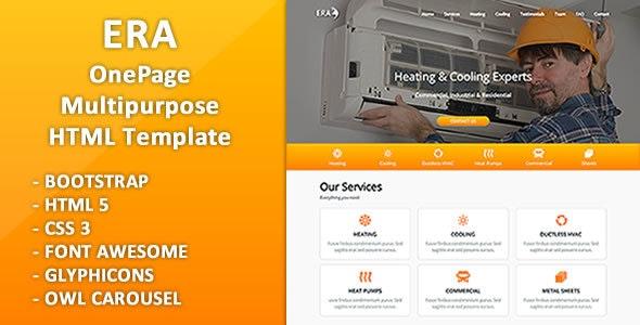 Era - Multipurpose Business OnePage HTML Template - Business Corporate