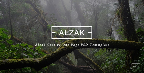 ALZAK - One Page Creative PSD - Creative Photoshop
